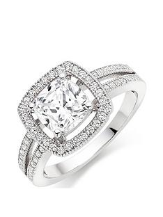 beaverbrooks-silver-cubic-zirconia-halo-cluster-ring