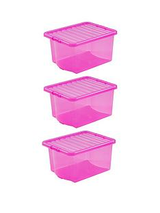 wham-set-of-3-pink-plastic-crystal-storage-boxes-ndash-35-litres-each