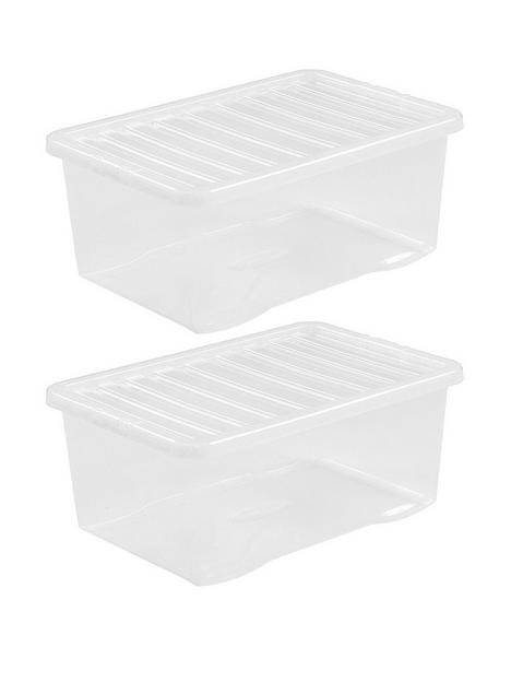 wham-set-of-2-clear-plastic-crystal-storage-boxes-ndash-45-litres-each