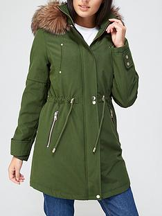 v-by-very-luxe-parka-with-pu-trim-khaki