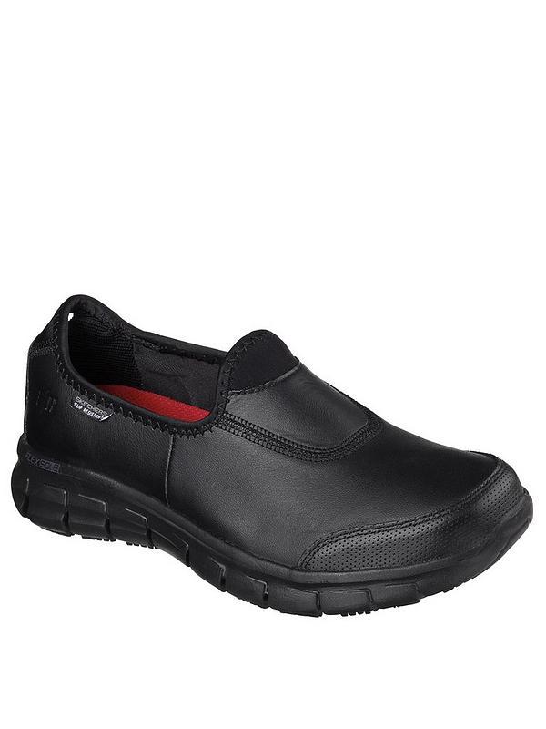Descriptivo Extraer construir  Skechers Sure Track Workwear Slip Resistant Trainers - Black | very.co.uk