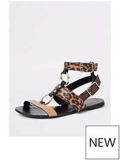 river-island-leopard-print-gladiator-sandal-brown