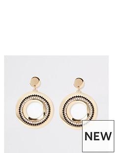 river-island-diamante-circle-dangle-earrings-gold