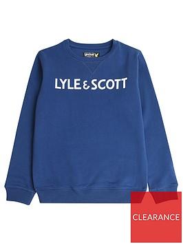 lyle-scott-boys-logo-crew-sweat-estate-blue