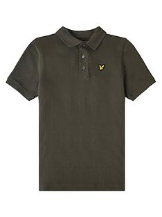 lyle-scott-boys-classic-short-sleeve-polo-khaki