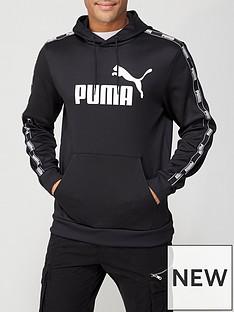 puma-poly-tape-hoodie-black