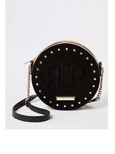 river-island-circle-embossed-fringe-cross-body-bag-black