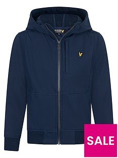 lyle-scott-boys-soft-shell-hooded-jacket-navy
