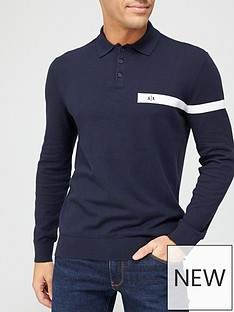 armani-exchange-knitted-long-sleeve-polo-shirt-navynbsp