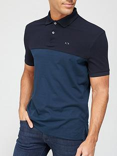 armani-exchange-colour-block-polo-shirt-navynbsp