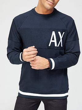 armani-exchange-panel-logo-sweatshirt-navynbsp
