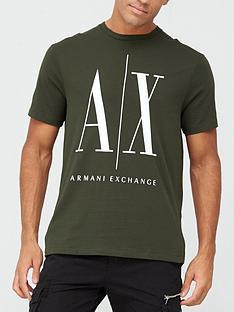 armani-exchange-ax-icon-logo-print-t-shirt-khaki