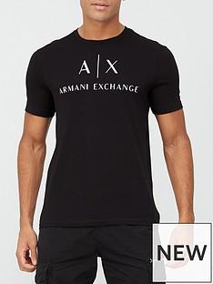 armani-exchange-logo-print-t-shirt-black