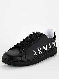 armani-exchange-logo-trainers-black