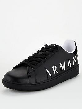 armani-exchange-logo-trainers-black