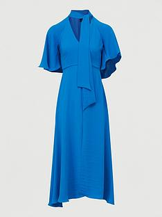 river-island-tie-neck-midi-dress-blue