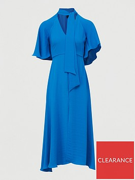 river-island-tie-neck-midi-dress-blue