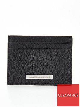 armani-exchange-pebble-grain-leather-card-holder-black