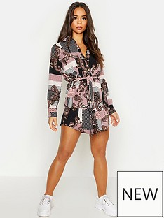 boohoo-boohoo-paisley-shirt-dress-pink