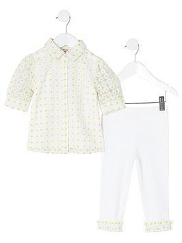 river-island-mini-girls-daisy-shirt-and-legging-setnbsp-nbspwhite