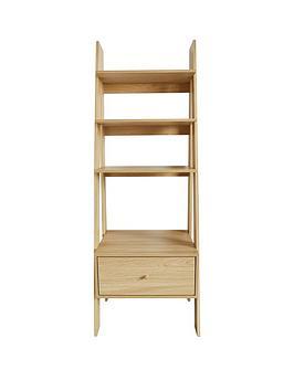 monty-ladder-shelf-with-drawer-oak-effect
