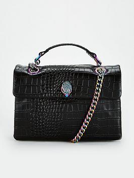 kurt-geiger-london-croc-kensington-shoulder-bag-black