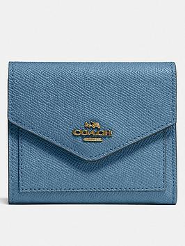 coach-crossgrain-leather-small-purse-blue