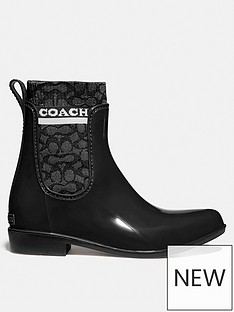 coach-rivington-signature-knit-patent-rain-boots-black