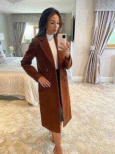 michelle-keegan-longline-double-breasted-coat-brown