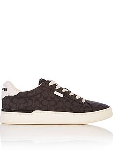 coach-signature-jacquard-low-top-trainers-black