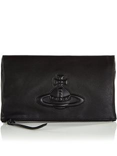 vivienne-westwood-chelsea-foldover-clutch-bag-black