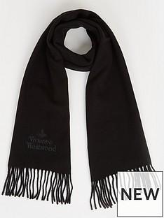vivienne-westwood-orb-wool-scarf-black