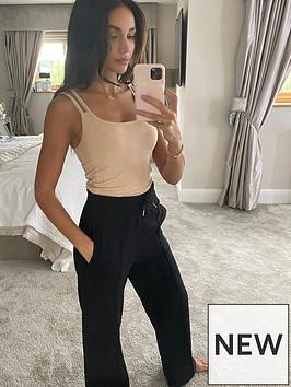 michelle-keegan-deep-waistband-wide-leg-jogger-black