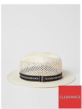 river-island-printed-trilby-hat-ecru
