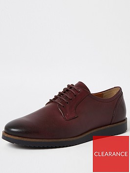 river-island-wedge-sole-derby-shoes-red
