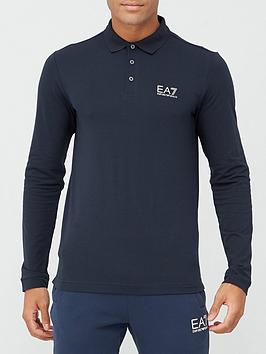 ea7-emporio-armani-core-id-logo-long-sleeve-polo-shirt-navy