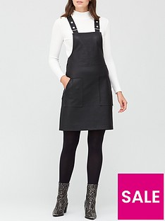 v-by-very-faux-leather-mini-pinafore-dress-black