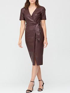 v-by-very-faux-leather-wrap-over-belted-midi-dress-burgundy