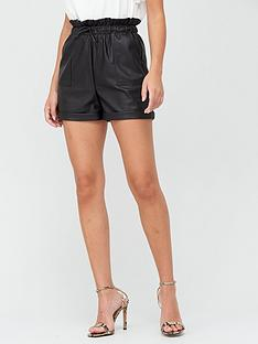 v-by-very-faux-leather-high-waisted-shorts-black
