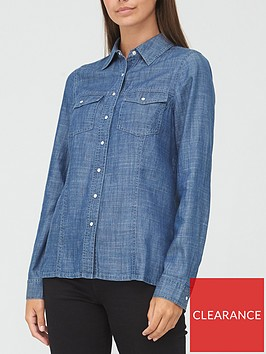 v-by-very-valuenbsprelaxed-denim-shirt-dark-wash
