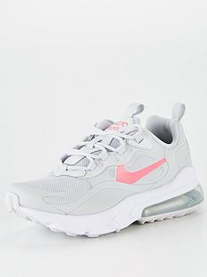 nike-air-max-270-react-junior-trainers-pinkgrey
