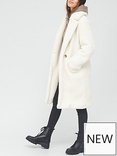 v-by-very-longline-double-breasted-teddy-coat-ivory