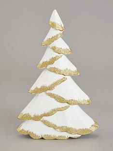 festive-white-wooden-tree-with-gold-glitter