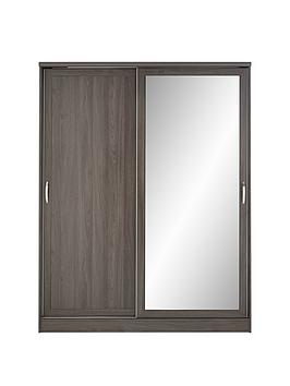 camberley-2-sliding-door-mirrorednbspwardrobe-dark-oak-effect