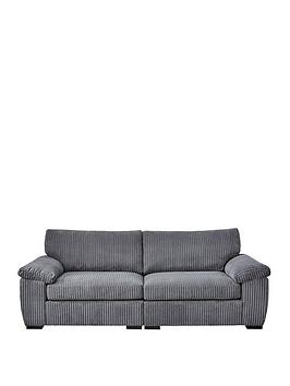 Amalfi 4 Seater Standard Back Fabric Sofa