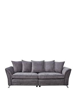 Dury Fabric 4 Seater Scatter Back Sofa