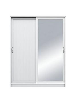camberley-2-slidingnbspdoor-mirrorednbspwardrobe-white