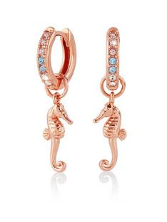 olivia-burton-seahorse-huggies-rose-gold