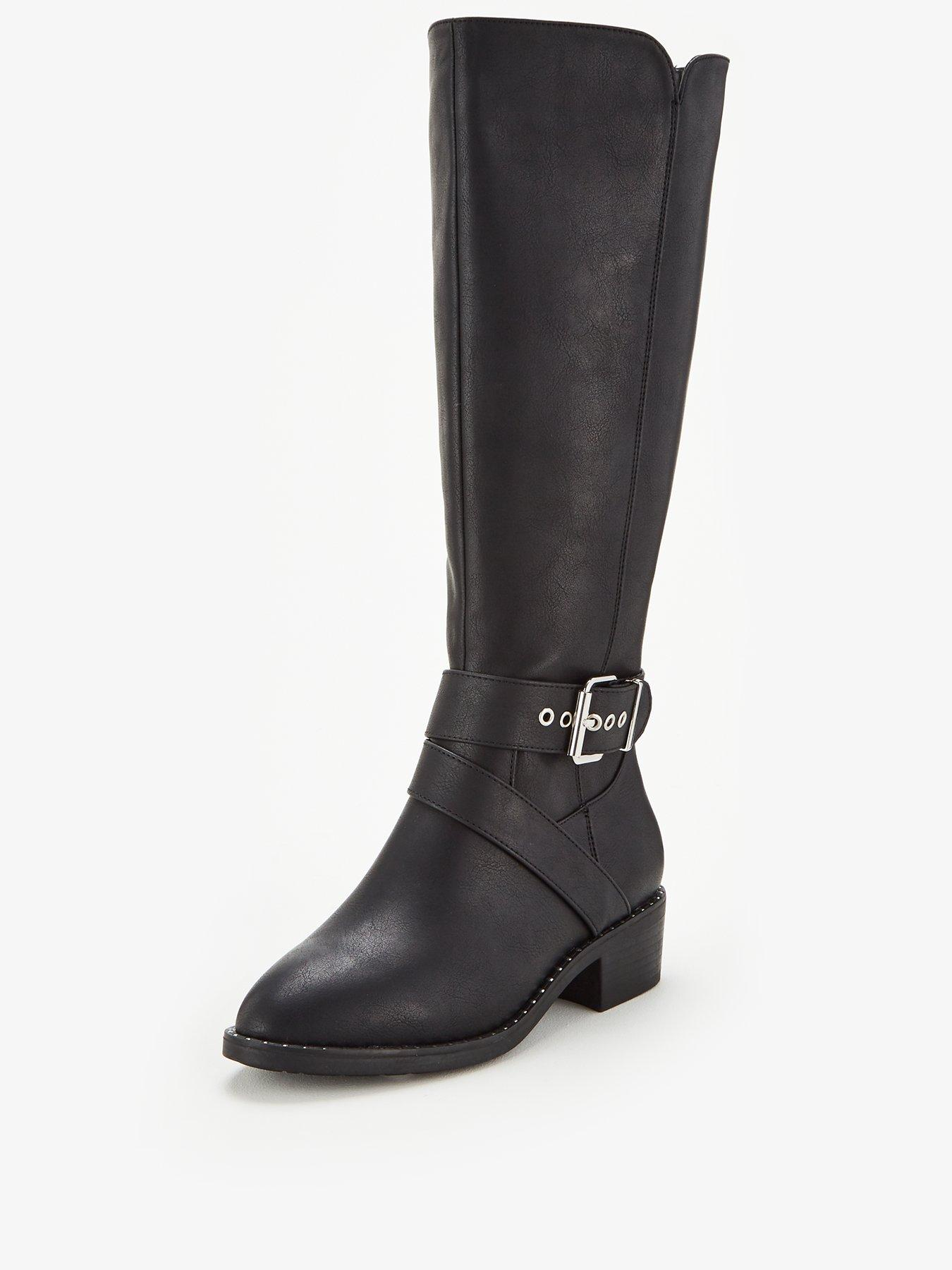 Black | Knee High Boots | Boots | Shoes