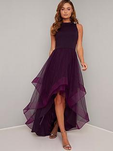chi-chi-london-thais-layered-mesh-dress-berry